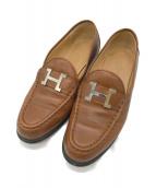 HERMES(エルメス)の古着「Hバックルローファー」 ブラウン