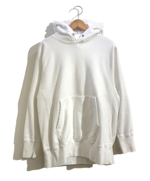 CIOTA(シオタ)CIOTA (シオタ) スビンコットン吊り裏毛プルオーバーパーカー ホワイト サイズ:5表記の古着・服飾アイテム