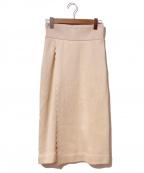THEATRE PRODUCTS(シアタープロダクツ)の古着「ニットスカート」 アイボリー
