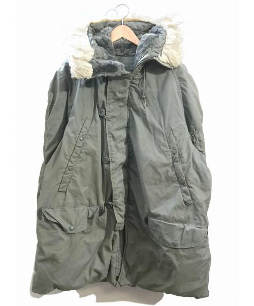 VINTAGE MILITARY(ヴィンテージ ミリタリー)VINTAGE MILITARY (ヴィンテージ ミリタリー) [古着]70's N-3Bタイプコート カーキ サイズ:L 79年納品・LANCER社の古着・服飾アイテム