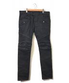 BALMAIN(バルマン)の古着「バイカーパンツ」|ブラック