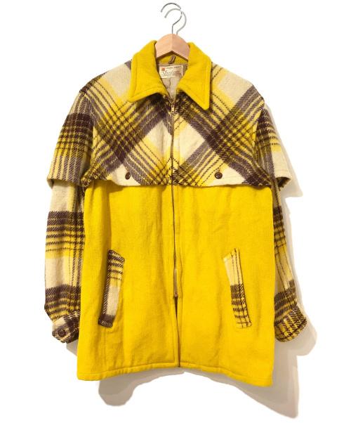 SHAN HOUSE(シャンハウス)SHAN HOUSE (シャンハウス) [古着]ヴィンテージスポーツジャケット イエロー サイズ:表記なし 40~50's・TALONジップ・コの字留め・レア切替の古着・服飾アイテム