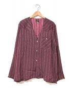 Needles(ニードルス)の古着「Vネックカウボーイシャツ」|ピンク