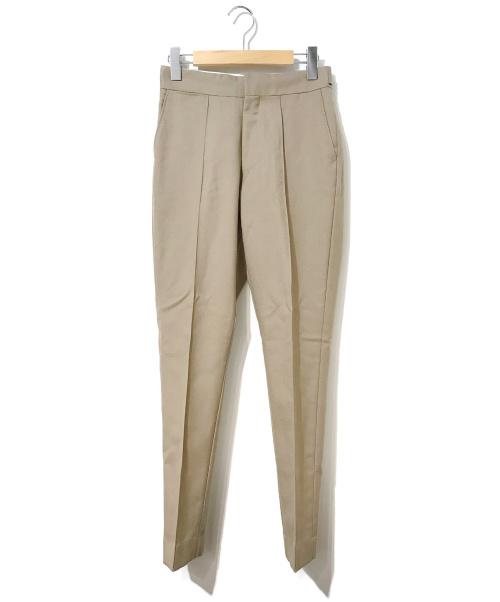 HYKE(ハイク)HYKE (ハイク) モヘヤブレンドスラックス ベージュ サイズ:1表記の古着・服飾アイテム