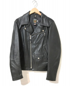 ()の古着「ラムレザーダブルライダースジャケット」|ブラック