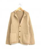 Brilla per il gusto(ブリッラ ペル イルグースト)の古着「ワッフル編みアルパカニットジャケット」|ベージュ