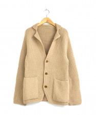 Brilla per il gusto (ブリッラ ペル イルグースト) ワッフル編みアルパカニットジャケット ベージュ サイズ:XS BEAMSドレスライン