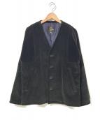 ()の古着「コーデュロイノーカラージャケット」|ブラック