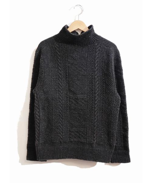 RRL(ダブルアールエル)RRL (ダブルアールエル) ブラックインディゴフィッシャーマンニット ブラック サイズ:Mの古着・服飾アイテム