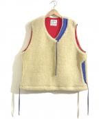 Comfy Outdoor Garment(コンフィーアウトドアガーメンツ)の古着「フリースボアベスト」|ベージュ