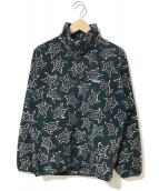 ()の古着「[古着]90'sシンチラスナップT/フリースジャケット」|グリーン