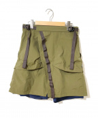 Comfy Outdoor Garment(コンフィーアウトドアガーメンツ)の古着「ラップスカートショーツ」|オリーブ