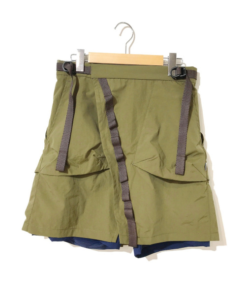 Comfy Outdoor Garment(コンフィーアウトドアガーメンツ)Comfy Outdoor Garment (コンフィーアウトドアガーメンツ) ラップスカートショーツ オリーブ サイズ:S CMF WRAP SKIRTの古着・服飾アイテム