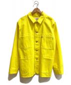 ()の古着「ポギーサックコート / カラーワークジャケット」|イエロー