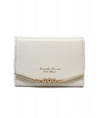 Samantha Thavasa PETIT CHOICE(サマンサタバサプチチョイス)の古着「二つ折り財布 / パスケースコンパクトウォレット」|ホワイト