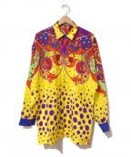 GIANNI VERSACE(ジャンニヴェルサーチ)の古着「[OLD]スカーフ柄シルクシャツ」|イエロー