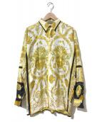 ()の古着「[古着]スカーフ柄シルクシャツ」|ホワイト