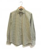 NIGEL CABOURN(ナイジェルケーボン)の古着「ギンガムチェックワークシャツ」 オリーブ