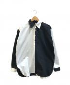 UMBRO(アンブロ)の古着「プルオーバーラガーシャツ」|ホワイト×ブラック