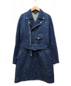 Hysteric Glamour(ヒステリックグラマー)の古着「デニムライダースコート」|インディゴ