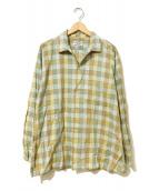 ()の古着「[古着]ヴィンテージオープンカラーシャツ」 ベージュ