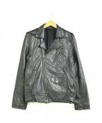 JACKROSE(ジャックローズ)の古着「ダブルライダースジャケット」 ブラック