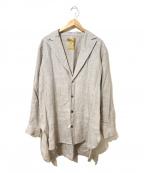 ROBES&CONFECTIONS(ローブス&コンフェクションズ)の古着「リネンシャツジャケット」|グレー