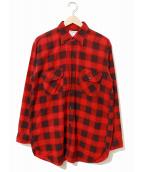 ()の古着「[古着]60'sヴィンテージネルシャツ」|レッド