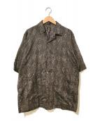 Needles(ニードルス)の古着「パイソンパターンカバナシャツ」|ブラウン