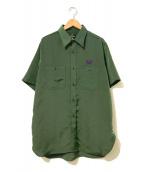 Needles(ニードルス)の古着「S/Sワークシャツ」|グリーン