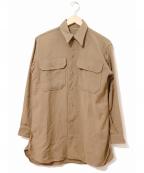 VINTAGE(ヴィンテージ)の古着「[古着]ヴィンテージマスタードシャツ」|カーキ