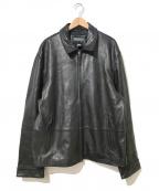 BANANA REPUBLIC(バナナリパブリック)の古着「[OLD]ビッグシルエットレザージャケット」 ブラック