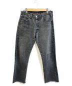 LEVI'S(リーバイス)の古着「[古着]90'sカットオフブラックデニム」|インディゴ