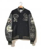 whitesville(ホワイツビル)の古着「スカルフルデコスタジャン / アワードジャケット」|ブラック