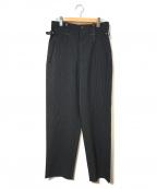 Jean Paul Gaultier homme(ジャンポールゴルチェオム)の古着「[OLD]ストライプハイウエストスラックスパンツ」 ブラック