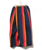 TOGA ARCHIVES(トーガアーカイブス)の古着「フルドロストリングスカート」|レッド×ネイビー