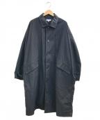 ordinary fits(オーディナリーフィッツ)の古着「ステンカラーコート」|ブラック