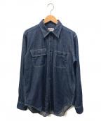 Engineered Garments WORKADAY(エンジニアドガーメンツ ワーカデイ)の古着「ダンガリーワークシャツ」|インディゴ
