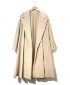 GIANNI VERSACE(ジャンニヴェルサーチ)の古着「[OLD]アンゴラカシゴラガウンコート」|ベージュ