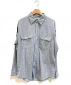 BIG MAC(ビッグマック)の古着「[古着]ヒッコリーワークシャツ」|ブルー
