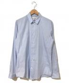 Maison Margiela 14(メゾンマルジェラ14)の古着「スリットデザインカラーシャツ」 ブルー