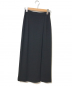 JURGEN LEHL(ヨーガンレール)の古着「ウールナロースカート」 ブラック