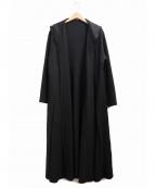 JURGEN LEHL(ヨーガンレール)の古着「フロントオープンガウンウールコート」 ブラック