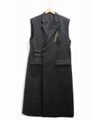 ()の古着「3Dポケットスリーブレスコート」|ブラック