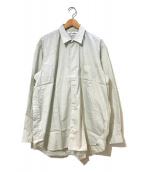 COMME des GARCONS SHIRT(コムデギャルソンシャツ)の古着「[OLD]総柄オーバーサイズシャツ」 グリーン