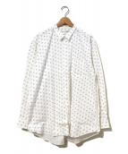COMME des GARCONS SHIRT(コムデギャルソンシャツ)の古着「[OLD]ジャガード×ドットプリントシャツ」 ホワイト×ブラック