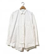 COMME des GARCONS SHIRT()の古着「[OLD]ジャガード×ドットプリントシャツ」 ホワイト×ブラック