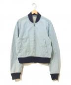 LEE()の古着「[古着]リブ襟ジップアップジャケット」|インディゴ