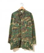 VINTAGE MILITALY()の古着「[古着]60'sカモフラジャングルファティーグジャケット」|カーキ