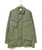 VINTAGE MILITALY(ヴィンテージ ミリタリー)の古着「[古着]60'sジャングルファティーグジャケット」|カーキ